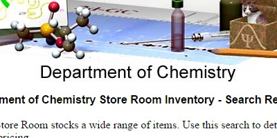 Chemistry Storeroom Search